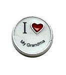 I Love My Grandma Floating Charm