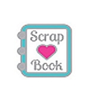 I Love Scrap Books Floating Charm