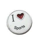 I Love Sports Floating Charm