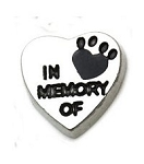 In Memory of Pet Heart Floating Charm
