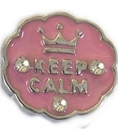 Keep Calm Floating Charm