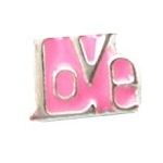 Love Floating Charm-Pink