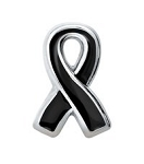 Melanoma Awareness Black Ribbon Floating Charm