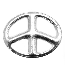 Oval Peace Symbol Floating Charm