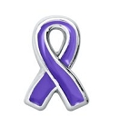 Pancreatic Cancer Awareness Purple Ribbon Floating Charm