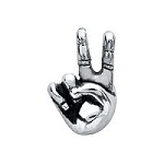 Peace Hand Sign Floating Charm