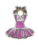 Pink Ballerina Dress Floating Charm