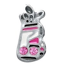 Ladies Golf Bag Floating Charm
