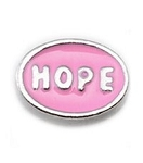 Pink Oval Hope Floating Charm