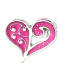 Pink Swirl Heart Floating Charm
