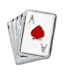 Poker Cards Hand Floating Charm