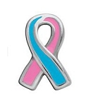 Prolife and Infant Death Pink and Blue Awareness Ribbon