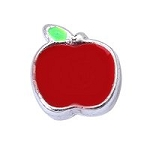 Red Apple Floating Charm