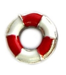 Red Life Preserver Floating Charm