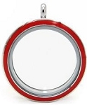 Red Stainless Steel Floating Locket