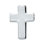 Silver Cross Floating Charm