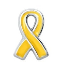 Support Our Troops Yellow Ribbon Floating Charm