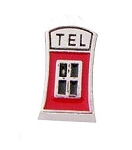 Telephone Booth Floating Charm