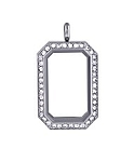 Alloy Medium Crystal Heritage Floating Locket