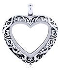 Alloy Victorian Heart Floating Locket