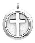 Cross Essential Oil Diffuser Locket