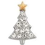 Crystal Christmas Tree Floating Charm