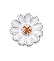 Daisy Flower w/ Crystal Floating Charm