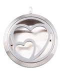 Double Heart Essential Oil Diffuser Locket