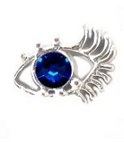 Eye and Lashes Floating Charm