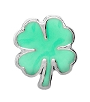 Green Clover Floating Charm