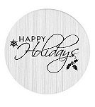 Happy Holidays 30mm Plate