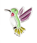 Humming Bird Floating Charm