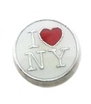 I Love New York Floating Charm
