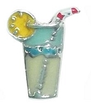 Iced Tea Mixed Drink Floating Charm