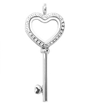 Alloy Key to My Heart Floating Locket