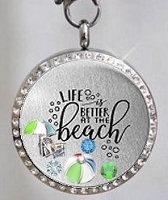 Life is Better at the Beach Floating Locket