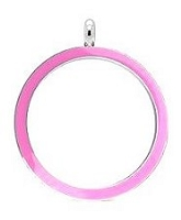 Light Pink Stainless Steel 30mm Floating Locket