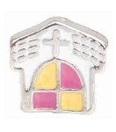 Little White Church Floating Charm