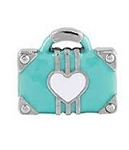 Love to Travel Suitcase Floating Charm