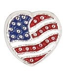 Modern Heart Flag Floating Charm
