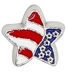 Modern Star Flag Floating Charm