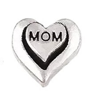 Mom in My Heart Floating Charm