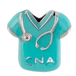CNA Nursing Scrubs Floating Charm