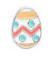 Orange Easter Egg Floating Charm