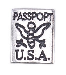 Passport Floating Charm