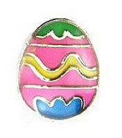 Pink Easter Egg Floating Charm