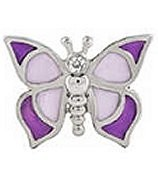 Purple Modern Butterfly Floating Charm