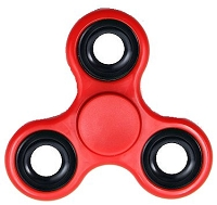 Red Fidget Tri-Spinner