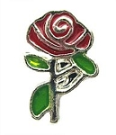 Red Rose Floating Charm