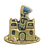 Sand Castle  Floating Charm